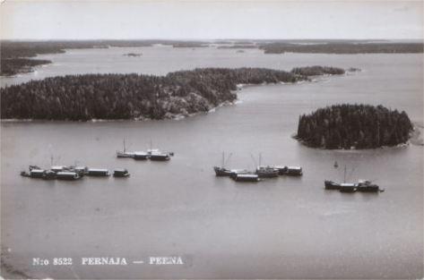 Ilmakuva Backenstrandista vuodelta 1952. (Kuva Peter Heleniuksen kokoelmista.)