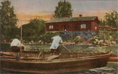 Kalastajan mökki Sarvisalon läheltä.