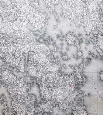 Kartta 1800-luvun alkupuolelta.